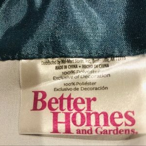 Better Homes And Gardens Accents - 2 Valances Teal Blue. Better Homes & Gardens.